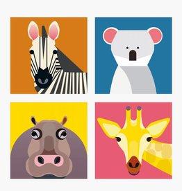 Studioroof Studioroof Magnets Wild Animals, Zebra Assorti