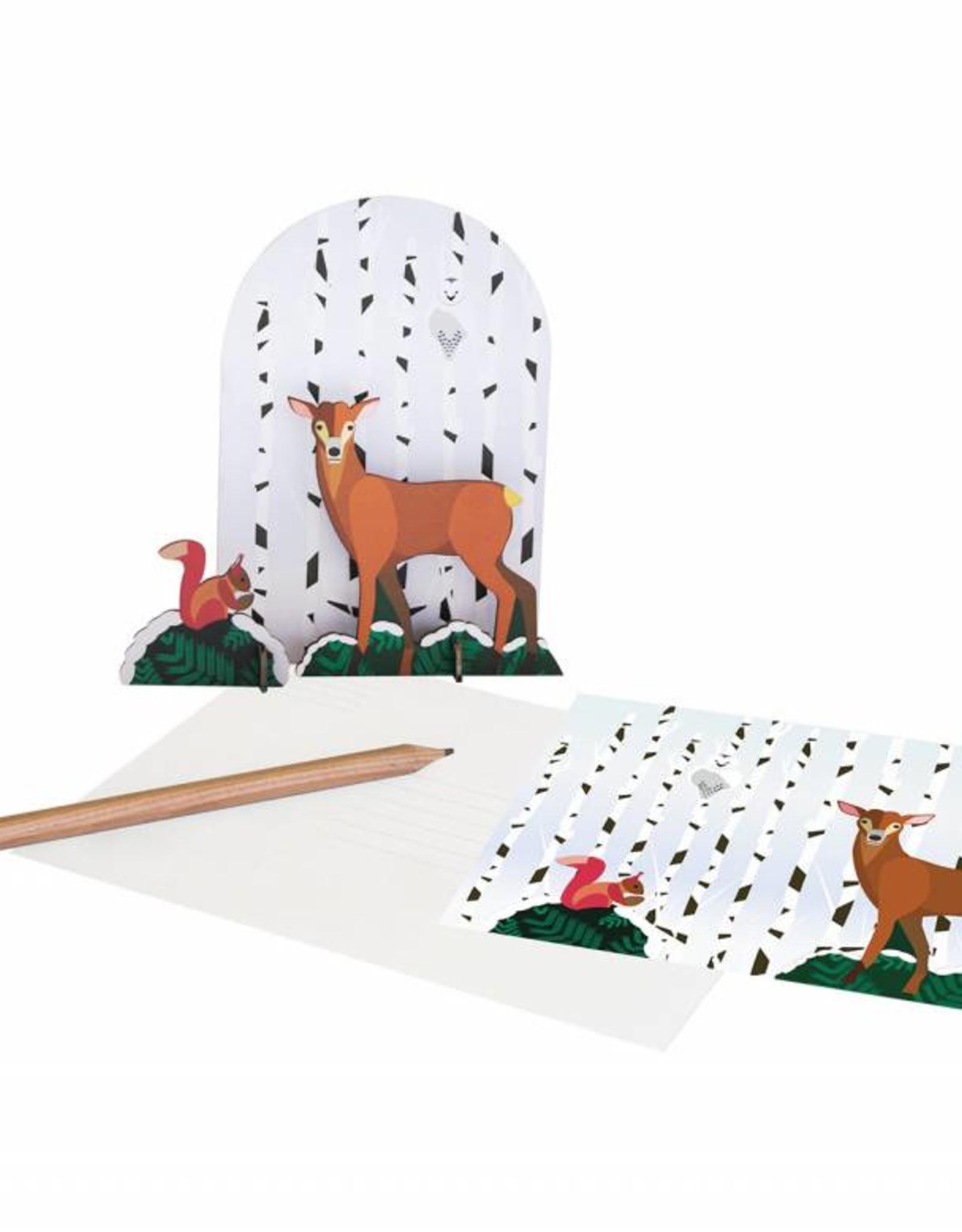Studioroof Pop out card Winter tale, Deer