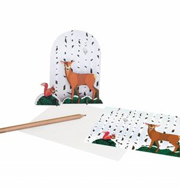 Studioroof Pop out card Winter tale, Deer