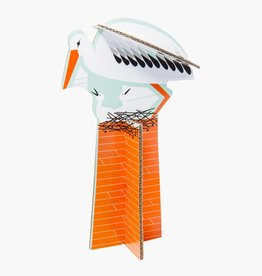 Studioroof Pop Out Card Stork