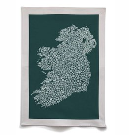 Petal to Petal Petal to Petal Ireland in Bloom Tea Towel Green