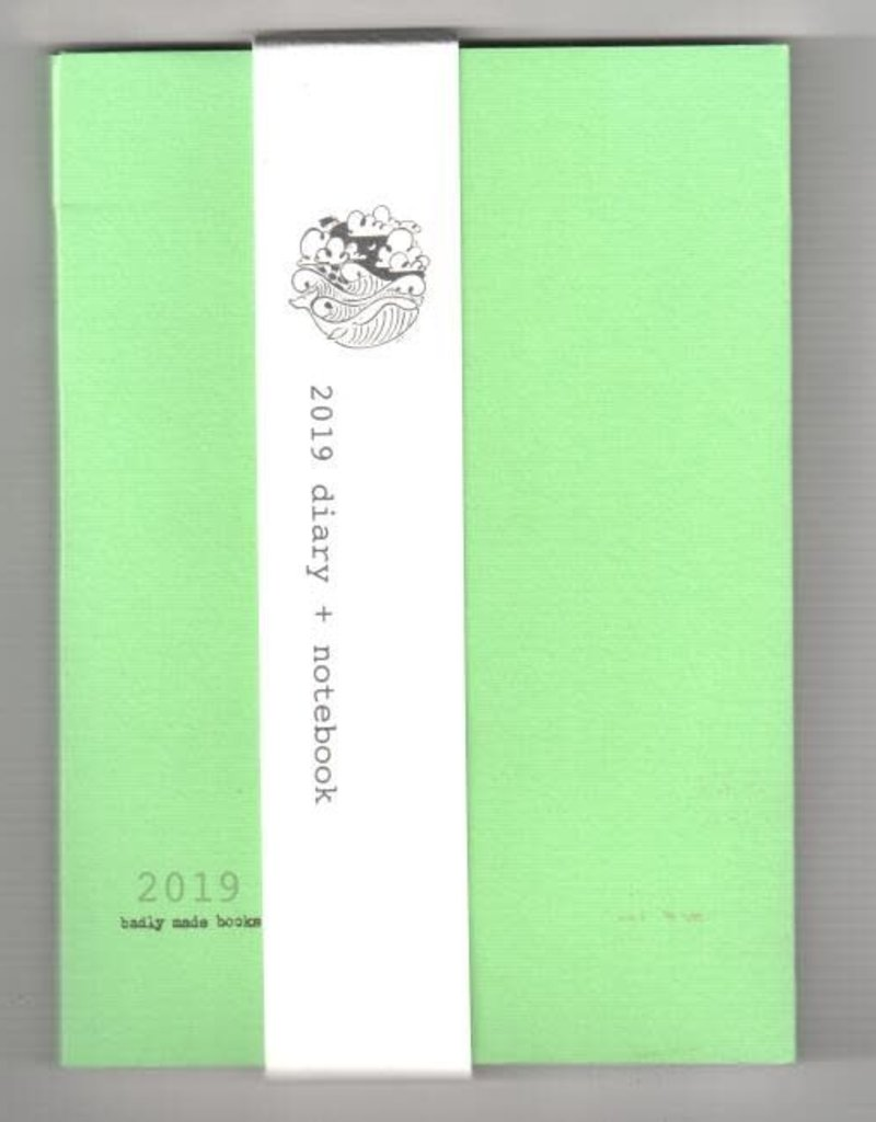 Badly Made Books Badly Made Books A5 Diary 2019 Green