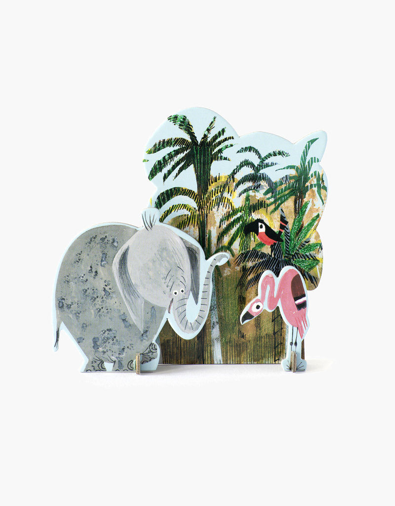 Studioroof Tiny Story Pop Out Card Fiep Jungle Elephant