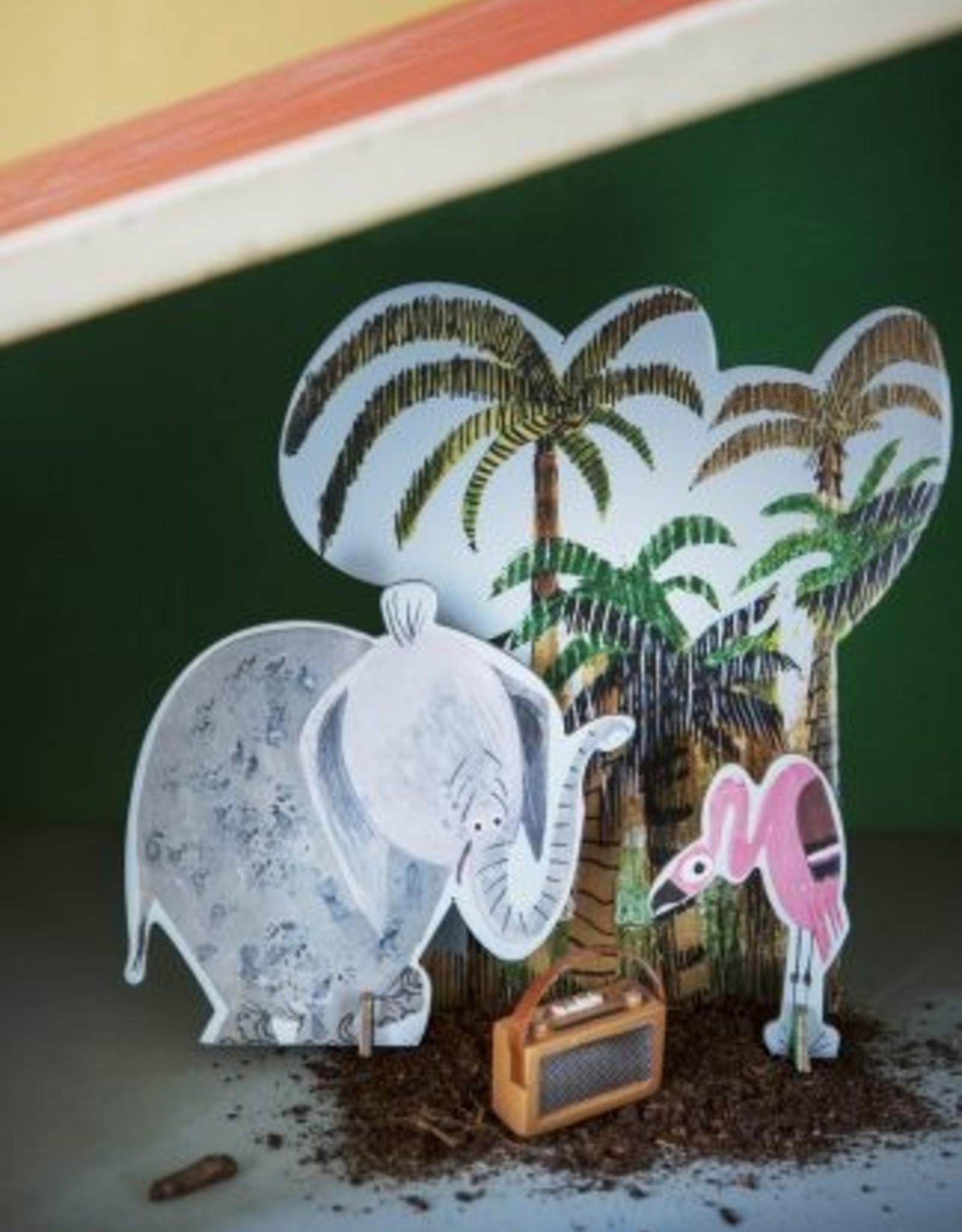 Studioroof Tiny Story Pop Out Card Fiep Jungle Elephant