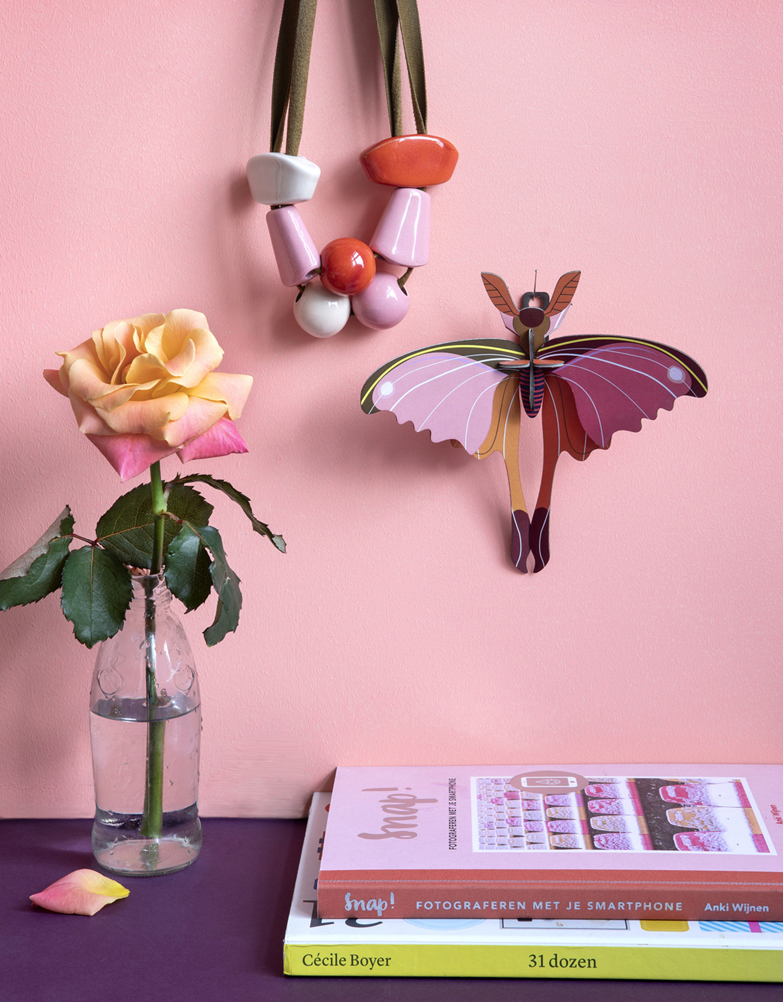 Studioroof Wall Decor Pink Comet Butterfly (small)
