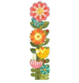 Petit Collage PTC101 GC-Garden Flowers Growth Chart