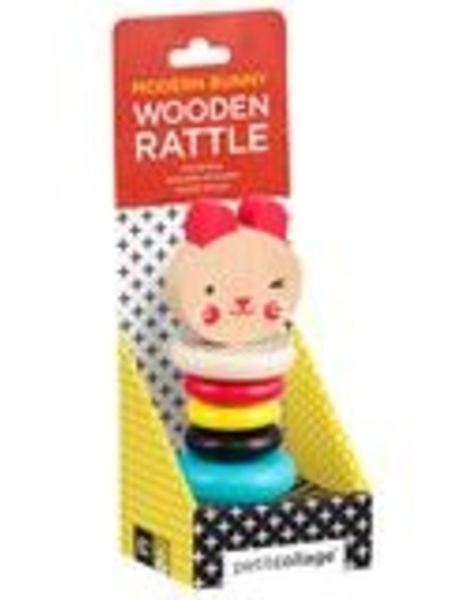 Petit Collage PTC313 Rabbit Wooden Rattle