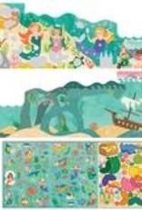 Petit Collage PTC122-Mermaid World Stickers