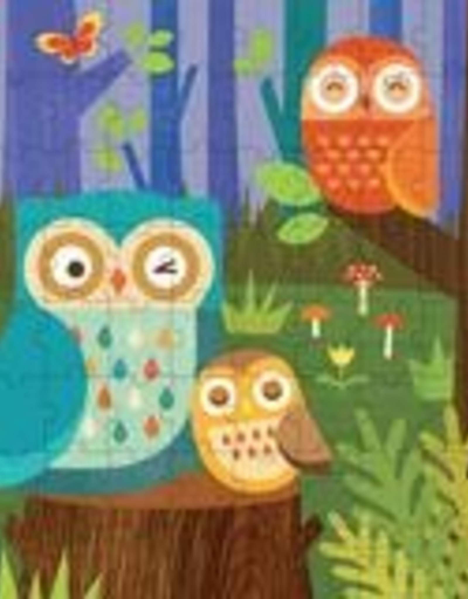Petit Collage PTC124 PZT-Owl Family Puzzle and Coin Bank