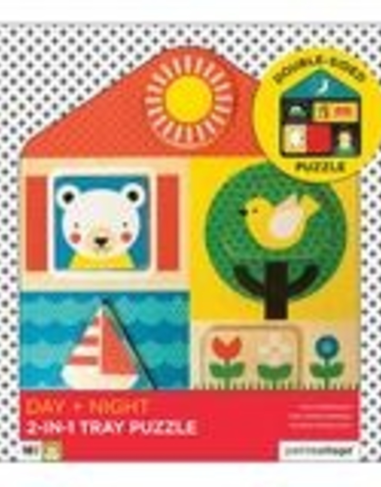 Petit Collage PTC134 WTP-Day & and Night 2 in 1 Tray Puzzle