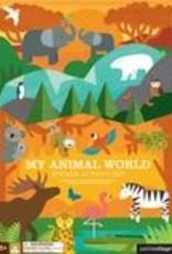 Petit Collage PTC123 My Animal World Sticker Activity Set