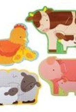 Petit Collage beginner puzzle farm babies