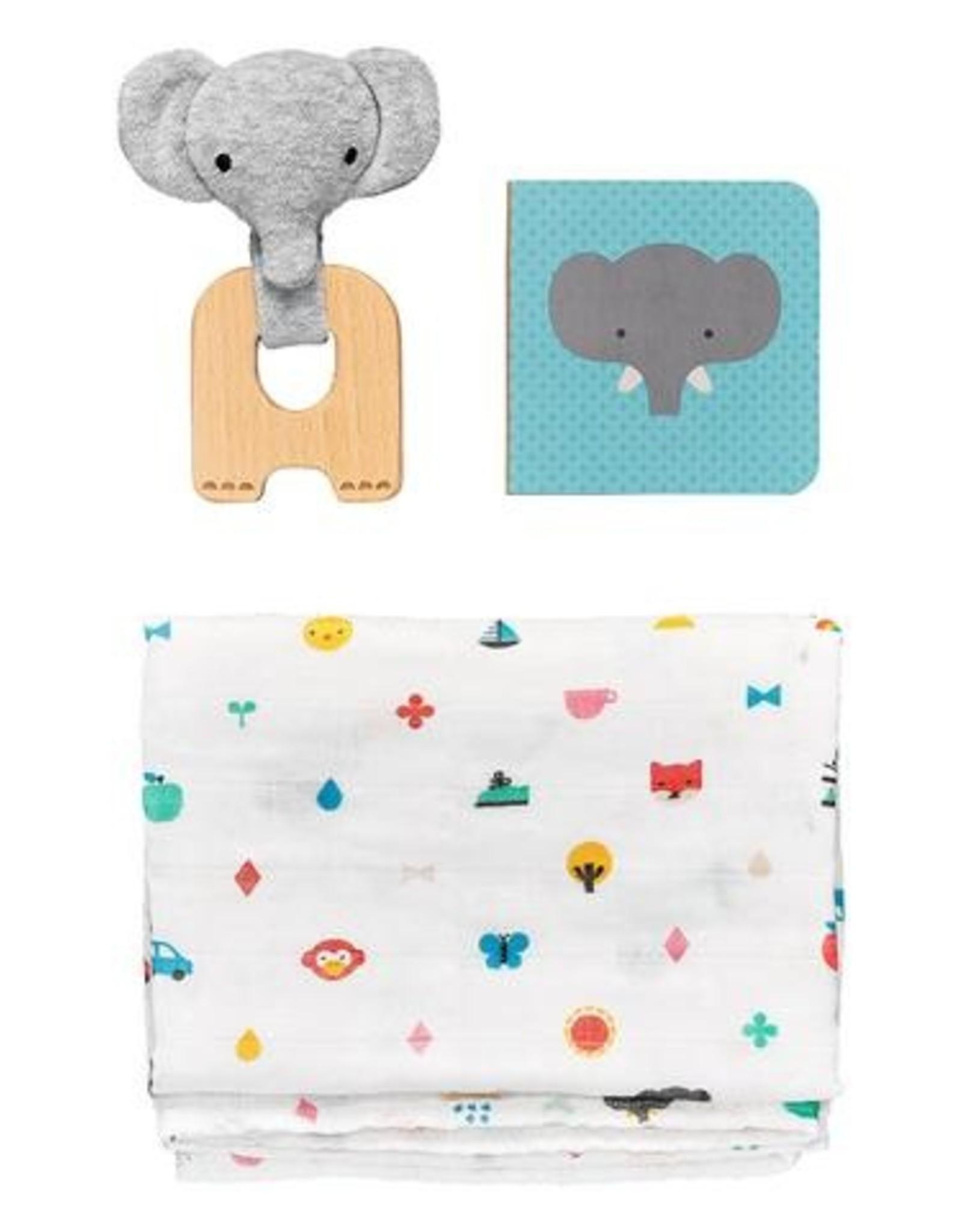 Petit Collage PTC461 Little Elephant Baby Gift Set