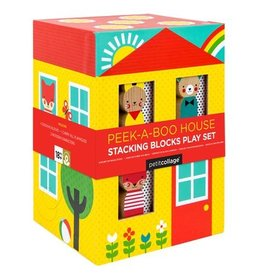Petit Collage PTC233 Peek-a-Boo House Stacking Blocks Play Set