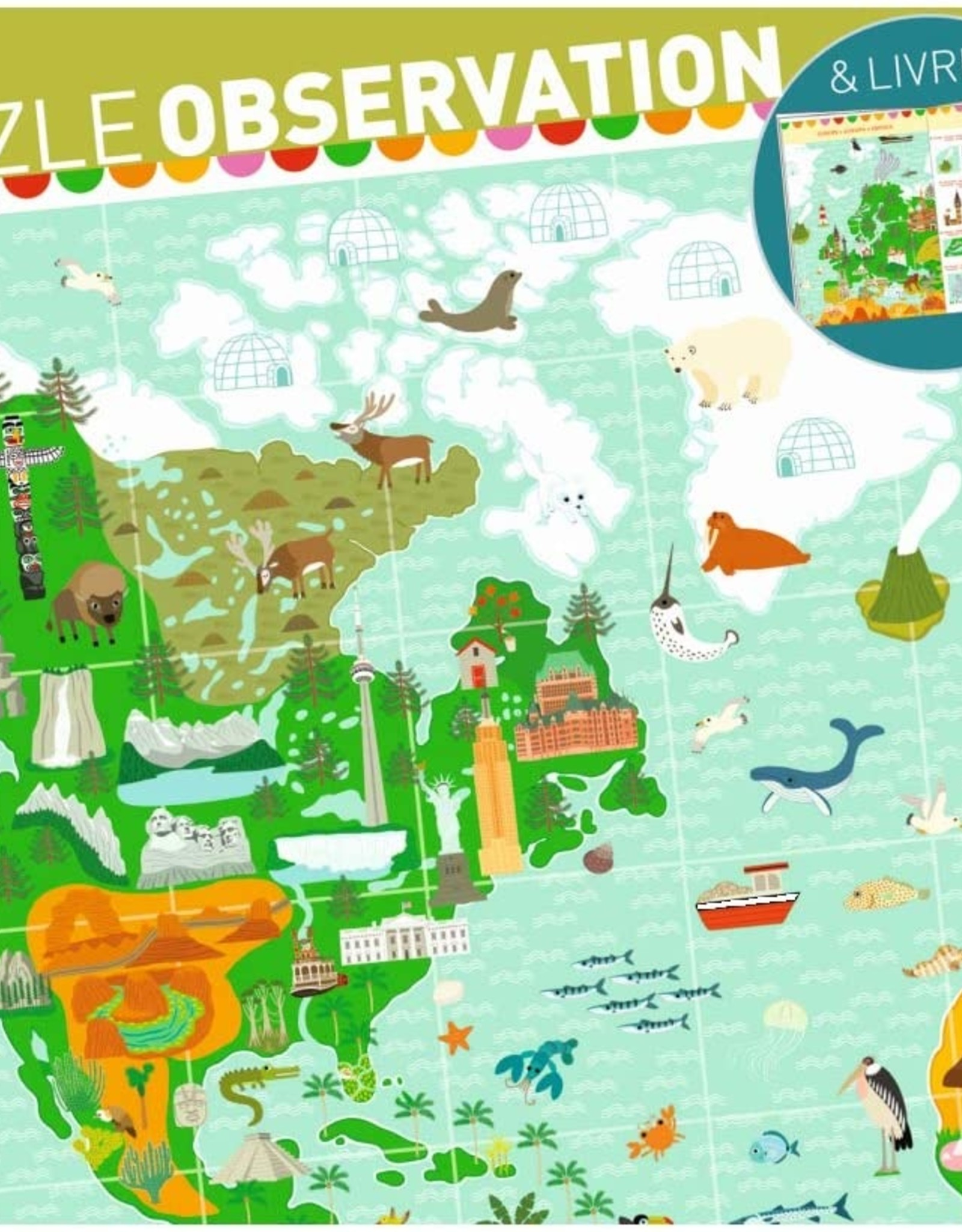 Djeco Puzzle Observation: Jour du Monde