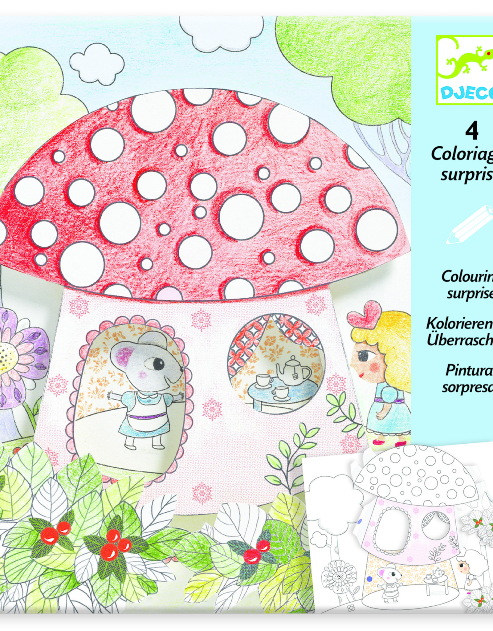 Djeco Colouring Surprise Thumbelina