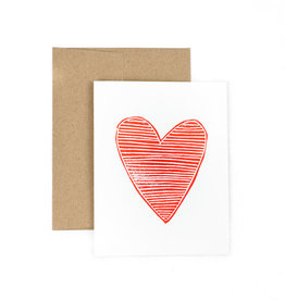 The Pear in Paper Letterpress - Heart