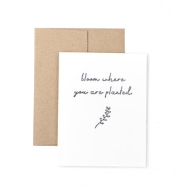The Pear in Paper Letterpress - Bloom Where You Are Planted