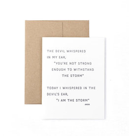 The Pear in Paper Letterpress - I am the storm
