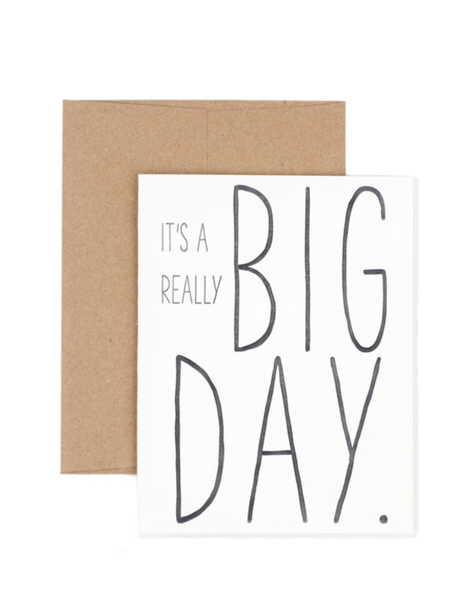The Pear in Paper Letterpress - It's a really big day