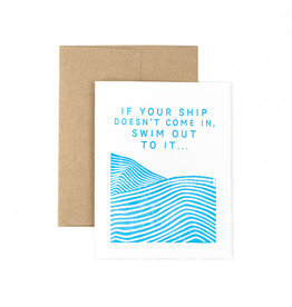 The Pear in Paper Letterpress - If your ship...