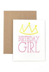 The Pear in Paper Letterpress - Birthday Girl