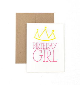 The Pear in Paper Letterpress - Birthday Girl