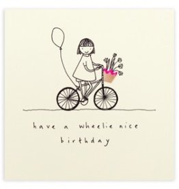 Card Boutique Ruth Jackson Have a wheelie nice Birthday