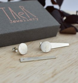 Taer Jewellery Taer Jewellery Silver Frosted Jacket Earrings