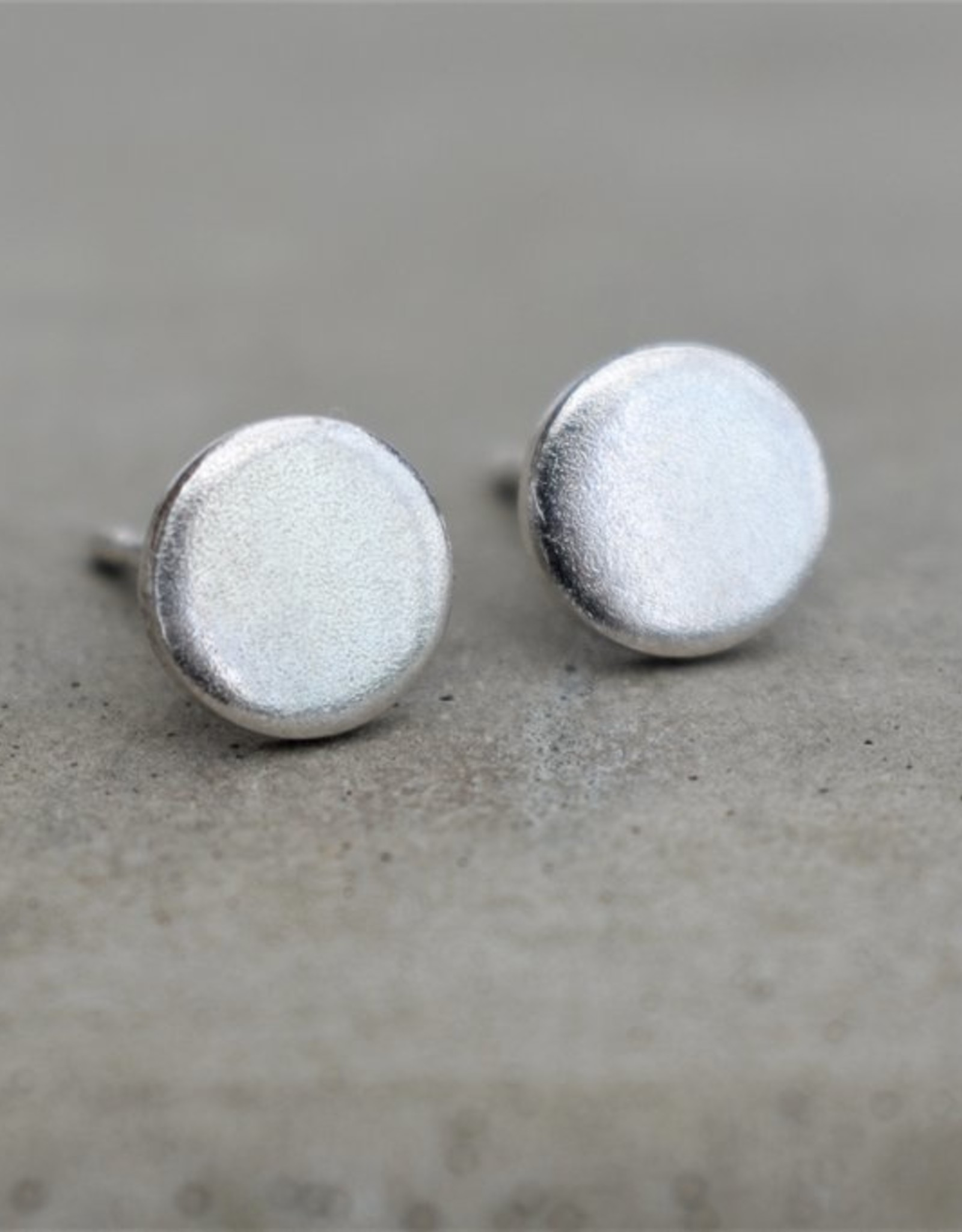 Taer Jewellery Taer Jewellery 5mm Studs Frosted Siver