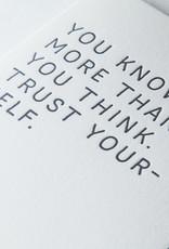 The Pear in Paper Letterpress - Trust yourself