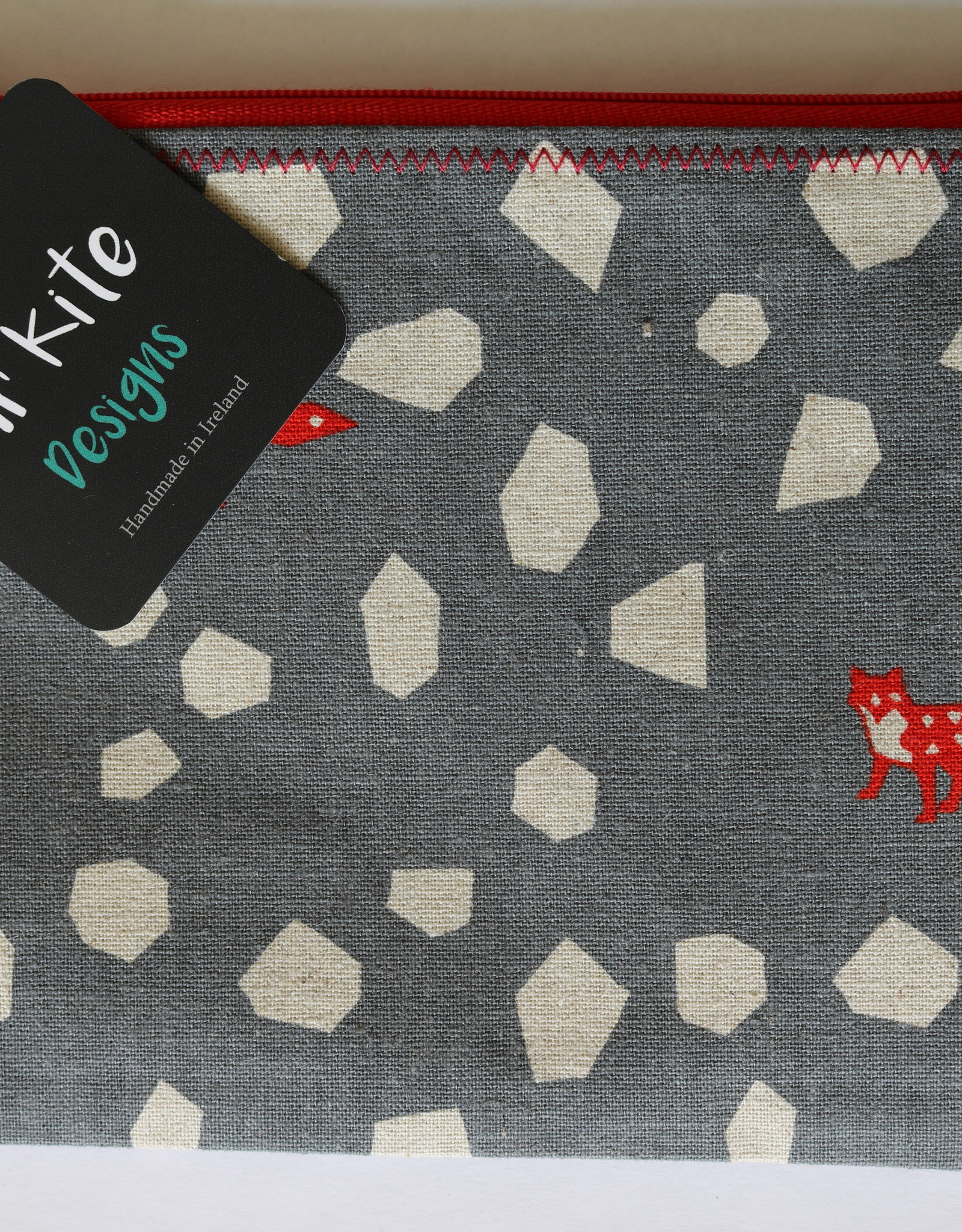Mr Kite Mr Kite Purse 'grey + red foxes'