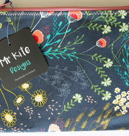 "Mr Kite Mr Kite Purse ""Flowers and navy"""