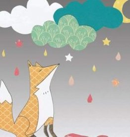 Mr Kite Mr Kite Fox and Clouds card