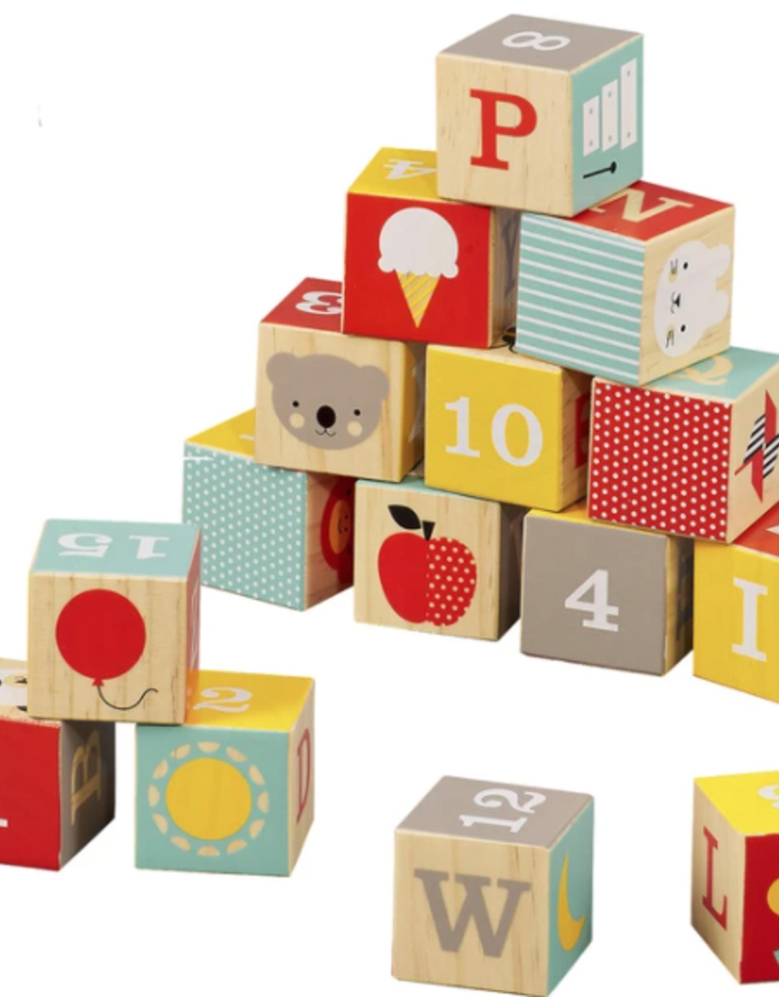 Petit Collage ABC Wood Blocks