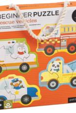 Petit Collage Beginner Puzzle - Rescue Vehicles