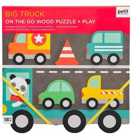Petit Collage Chunky Wood Puzzle Big Truck