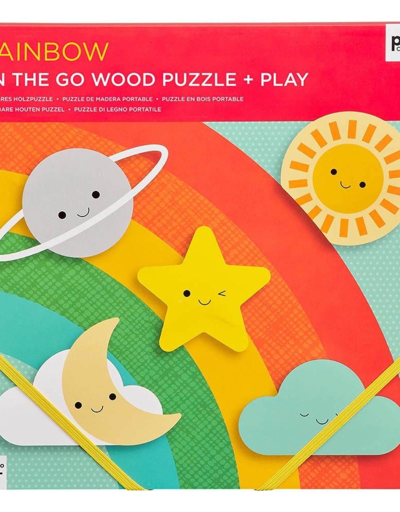 Petit Collage PTC503 - Chunky Wood Puzzle Rainbow