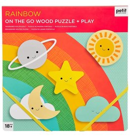 Petit Collage PTC503 - Chunky Wood Puzzle Rainbow