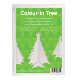 Jiminy Eco Toys Recycled 3-D colour-in Christmas trees