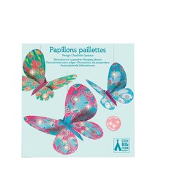 Djeco Hanging Decor Glitter Butterflies
