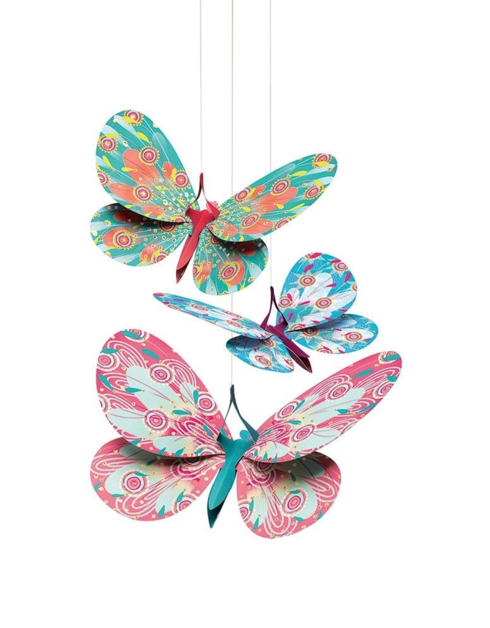 Djeco Hanging Decor Glitter Butterflies