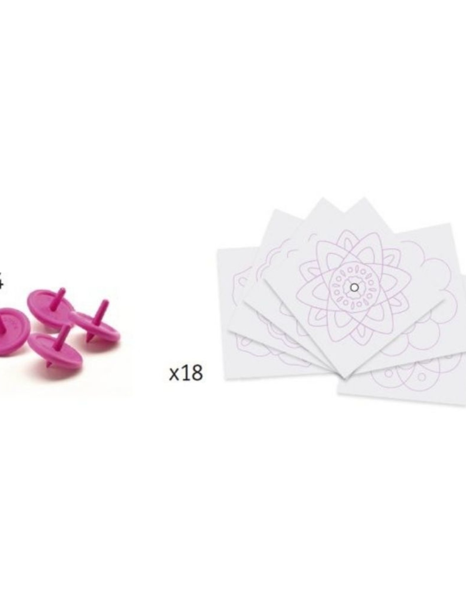 Djeco Spinning Tops DIY- Flowers