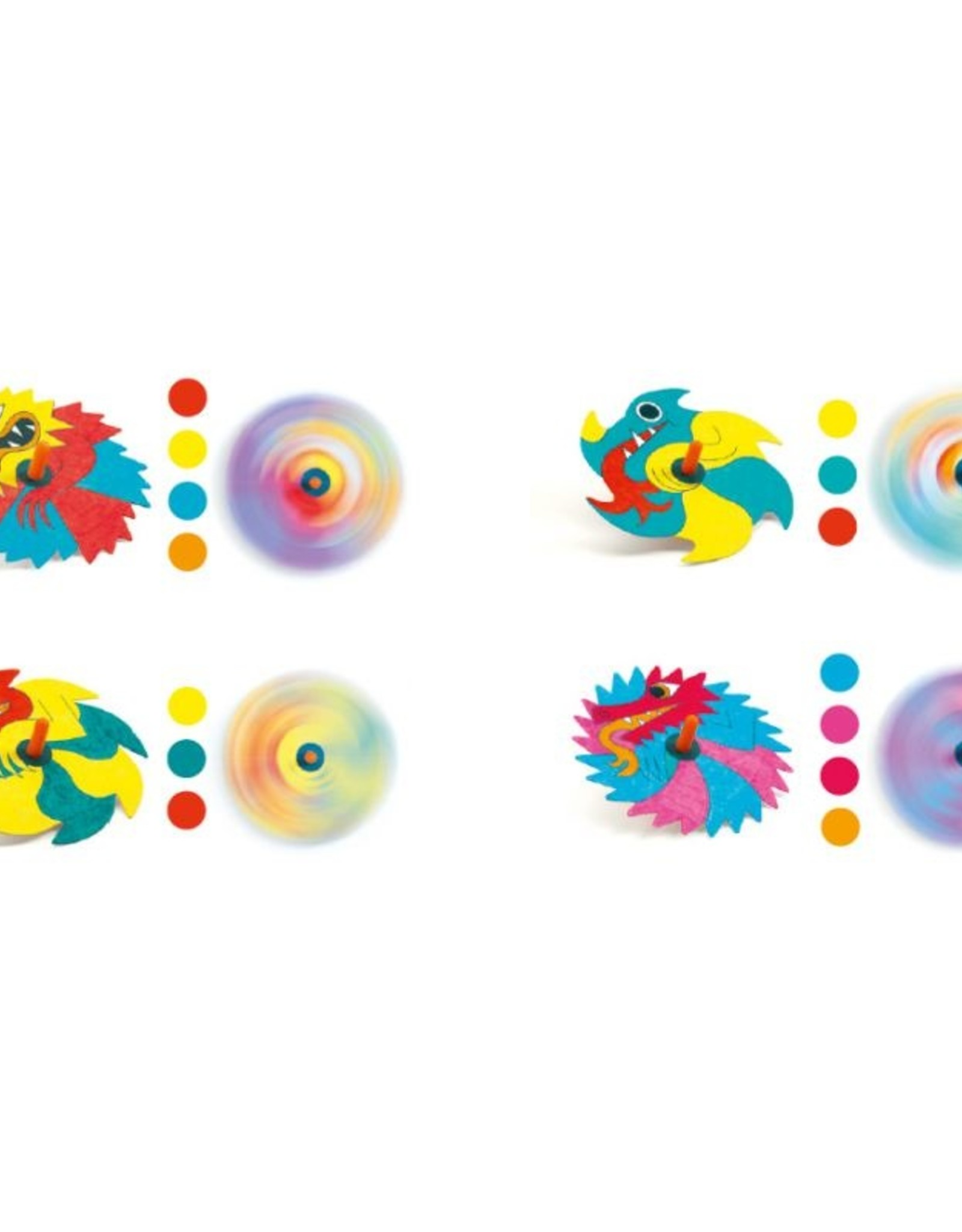 Djeco Spinning Tops DIY - Dragons