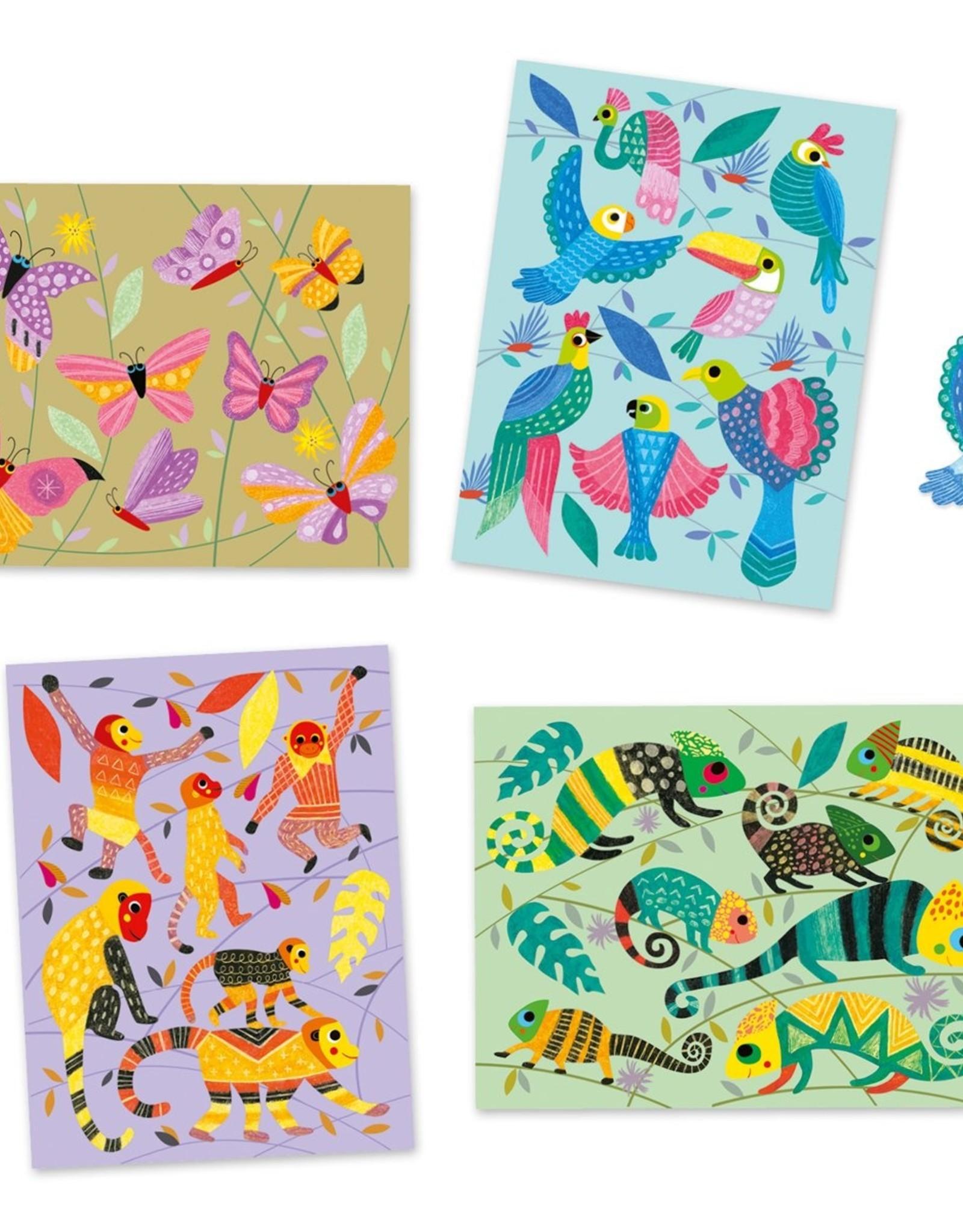 Djeco Pastels workshop- coloured jungle
