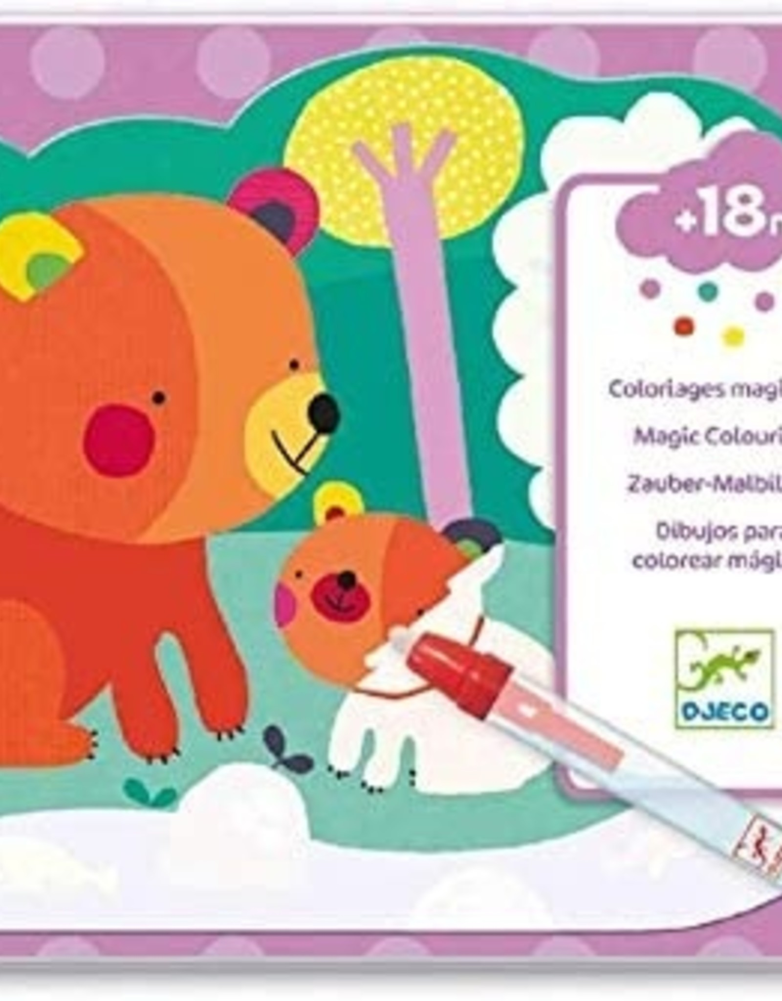 Djeco Magic colouring - Hidden in the woods