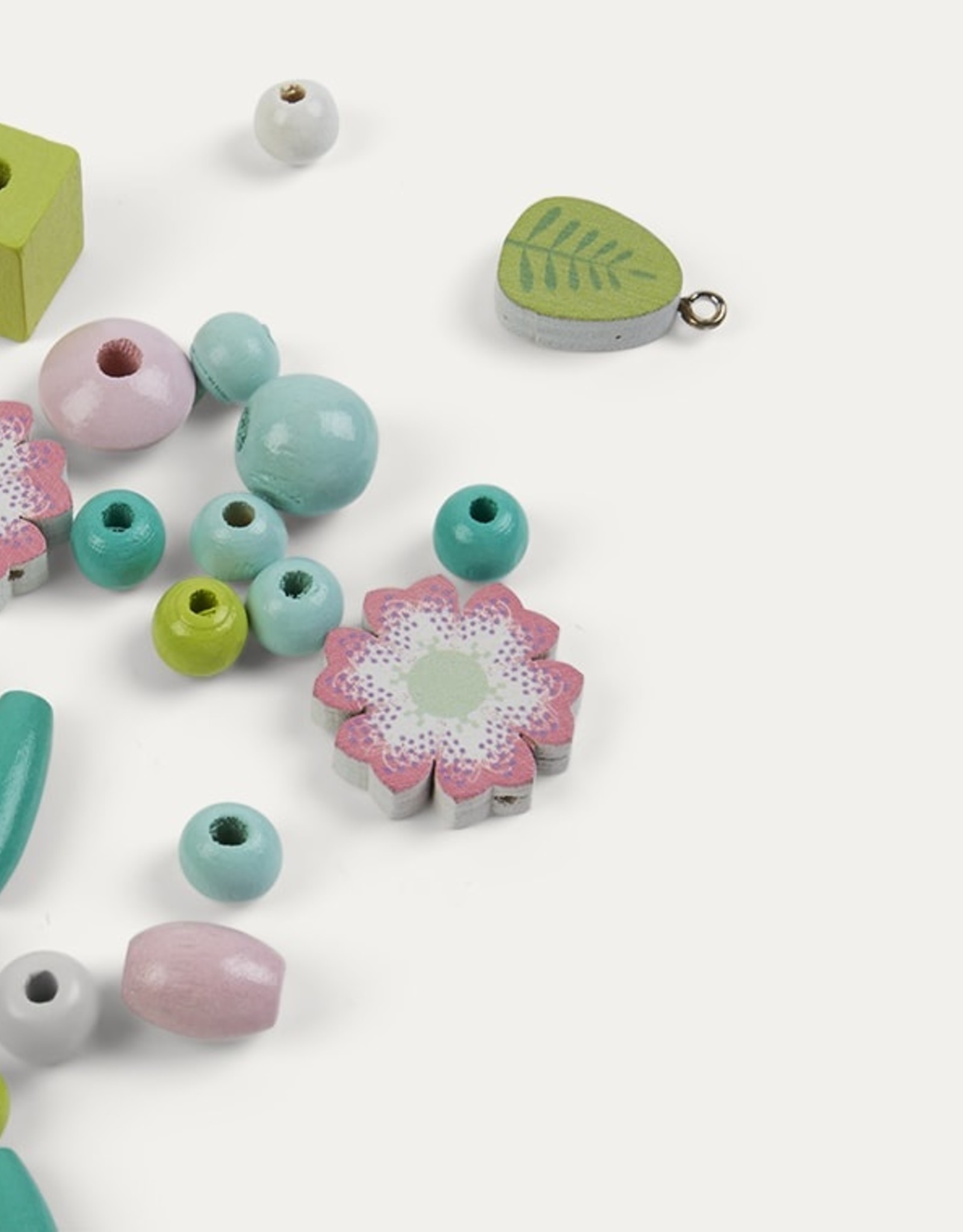 Djeco Wooden Beads - Flowers and Foliage