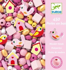 Djeco Wooden Beads - Birds