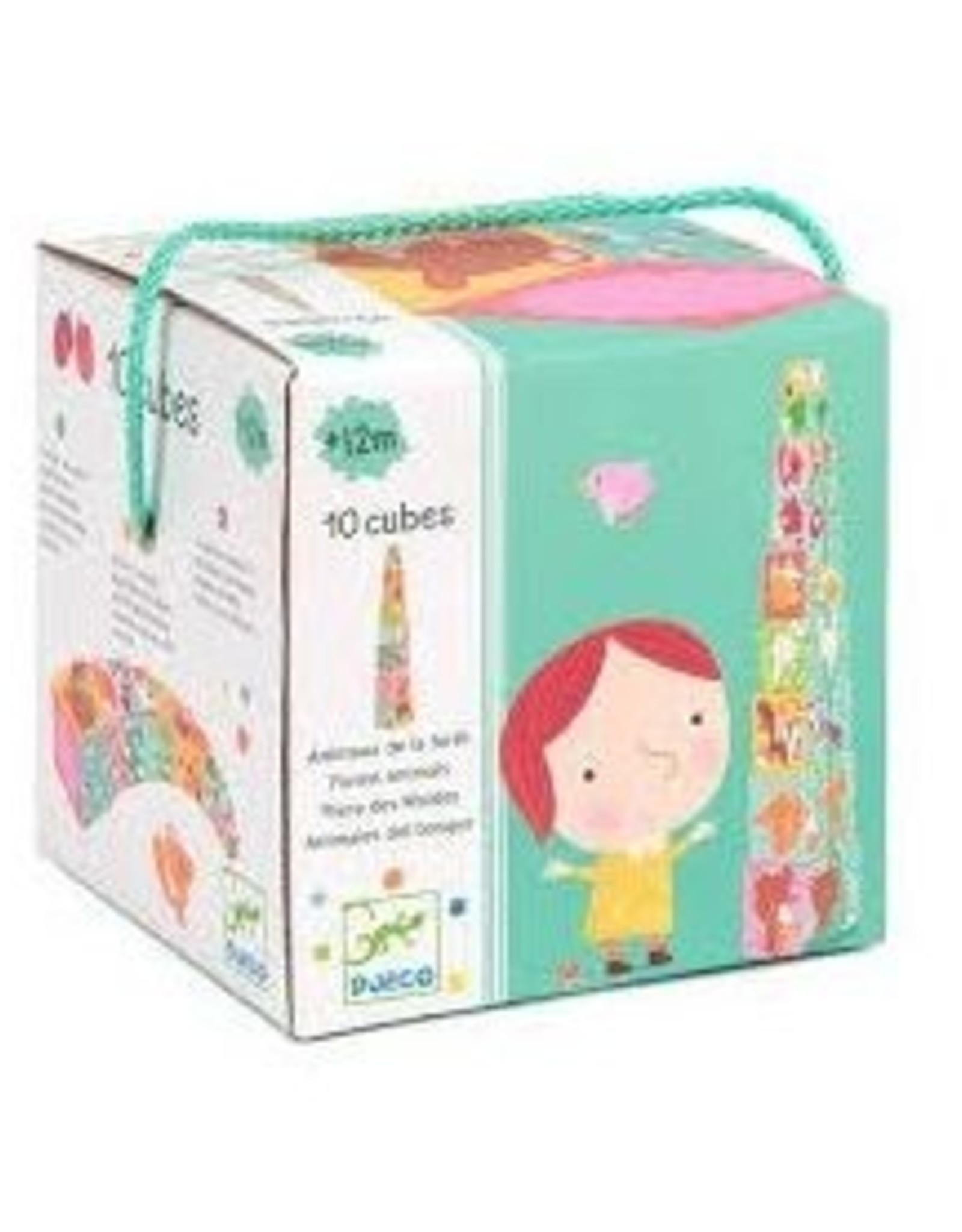 Djeco 10 Cubes (blocks for infants) - Forest