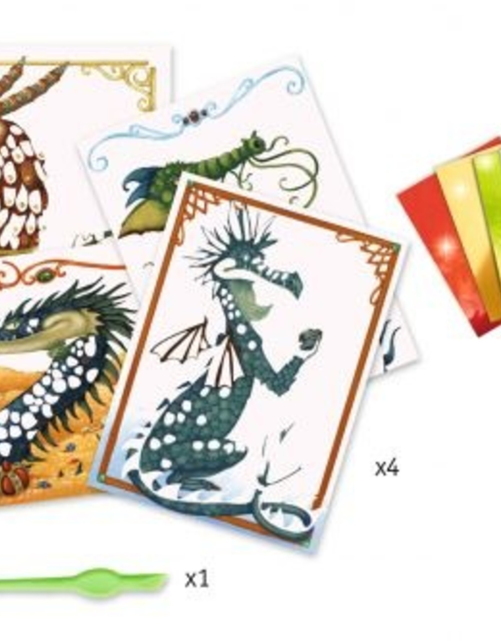 Djeco Foil Pictures - Dragons